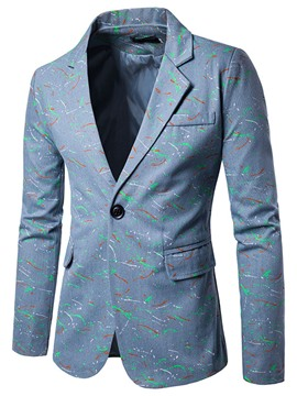 Ericdress Notched Lapel Slim Men's Casual Blazer