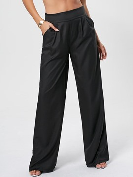 Ericdress Elastics Pocket Wide Legs Pants