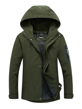 Ericdress Hooded Zipper Patchwork Men's Jacket