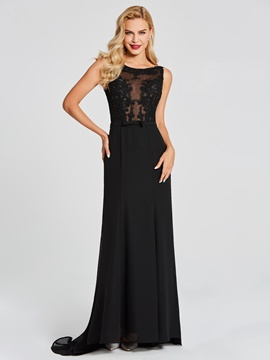 Ericdress scoop neck lace applique sirma robe de soirée