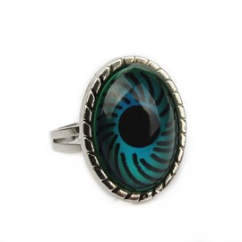 Ericdress Vintage Magical Eye Alloy Open Ring for Women