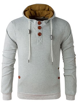 Ericdress Hooded Pullover Lace-Up Men's Hoodie