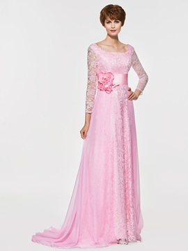 Ericdress Square Long Sleeves A Line Lace Mother Of The Bride Dress