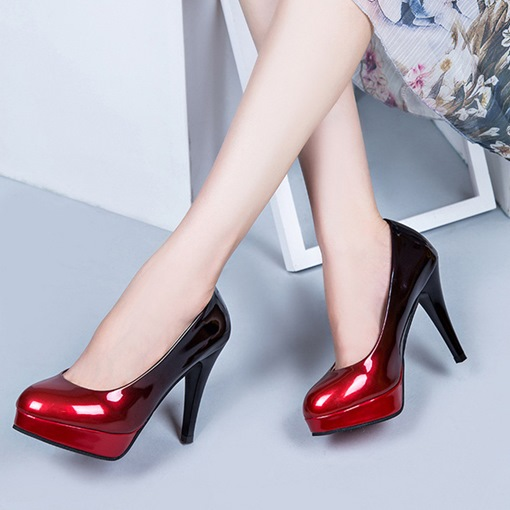 Ericdress Gradient Round Toe Stiletto Heel Pumps