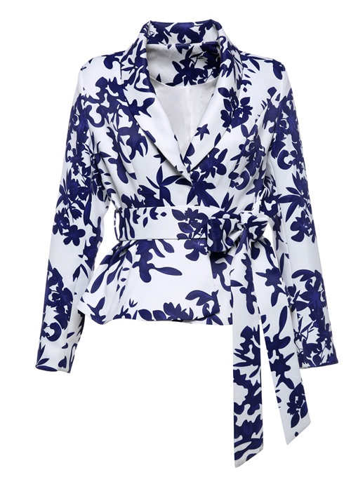 Ericdress Shawl Collar Floral Ruffles Jacket