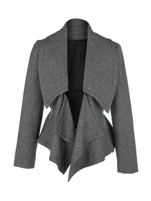 Ericdress Loose Lapel Plain Lace-Up Jacket