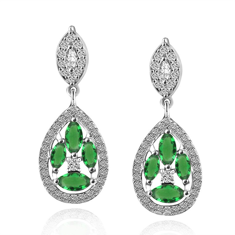 Ericdress New Style Emerald Women's Drop Earring