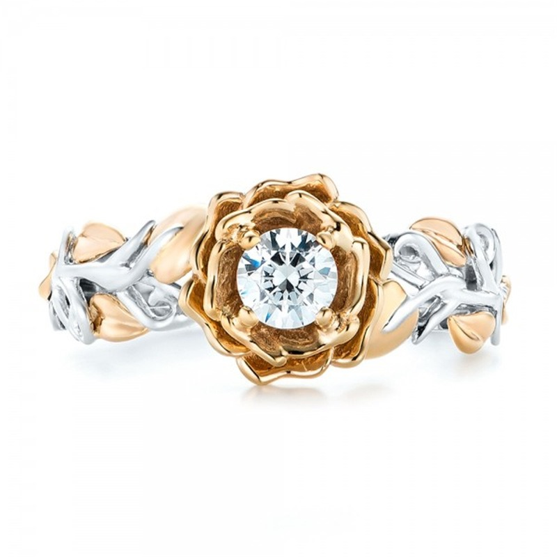 Ericdress Flower Colored Wedding Ring for Women