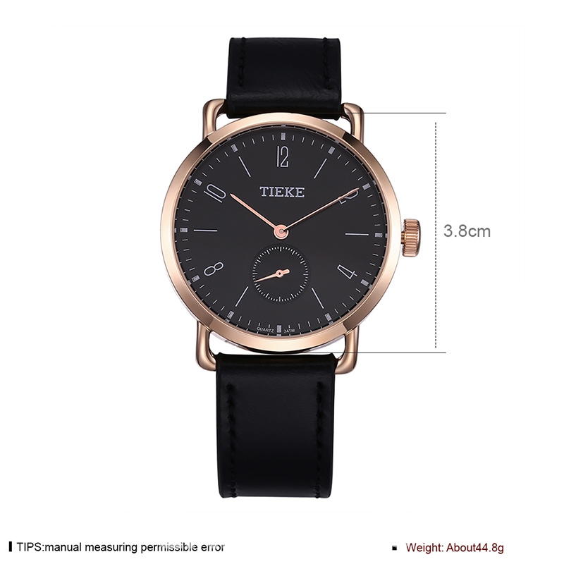 Ericdress Classic Leather Strap Men's Business Watch