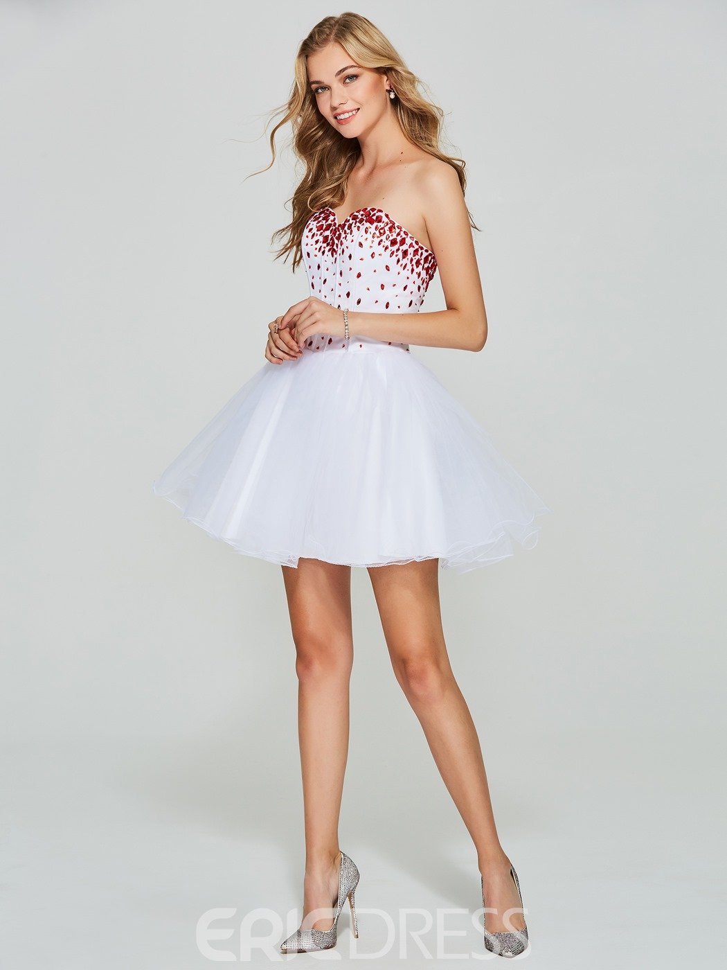 Ericdress A Line Sweetheart Beaded Short Homecoming Dress