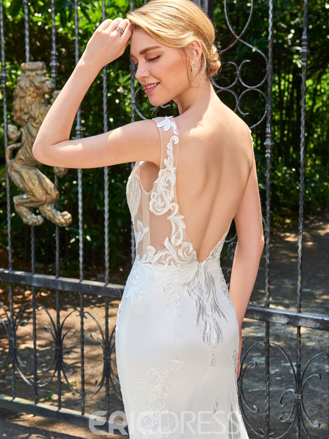 Ericdress Sexy Scoop Mermaid Backless Wedding Dress