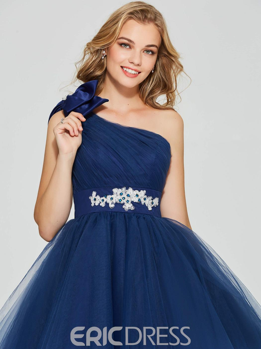 Ericdress A Line One Shoulder Short Homecoming Dress