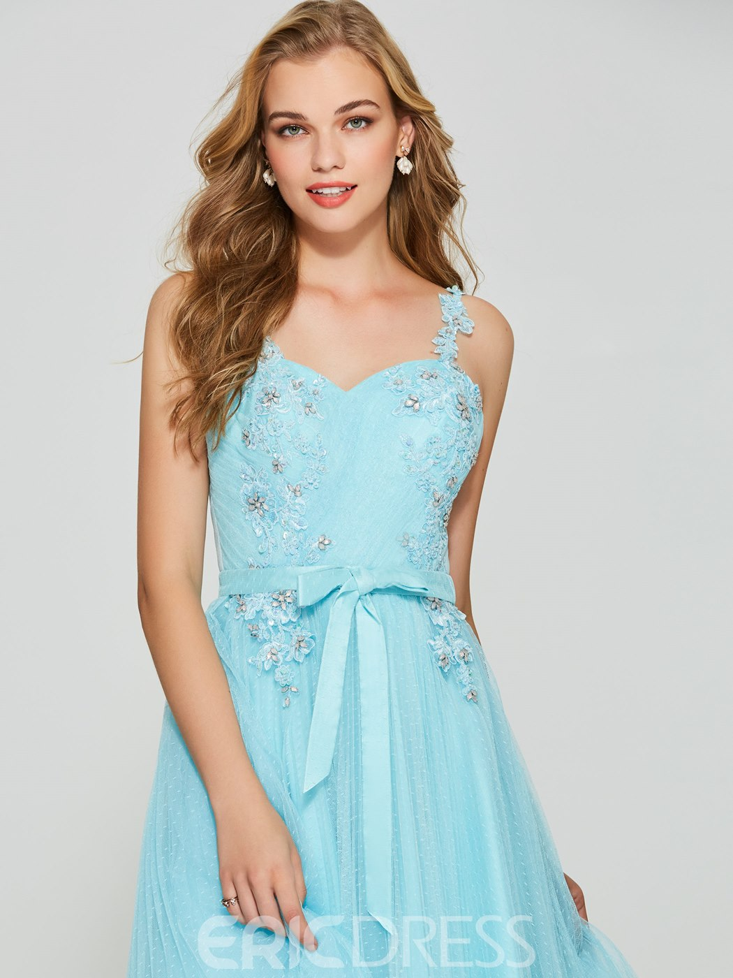 Ericdress A Line Straps Beaded Short Homecoming Dress