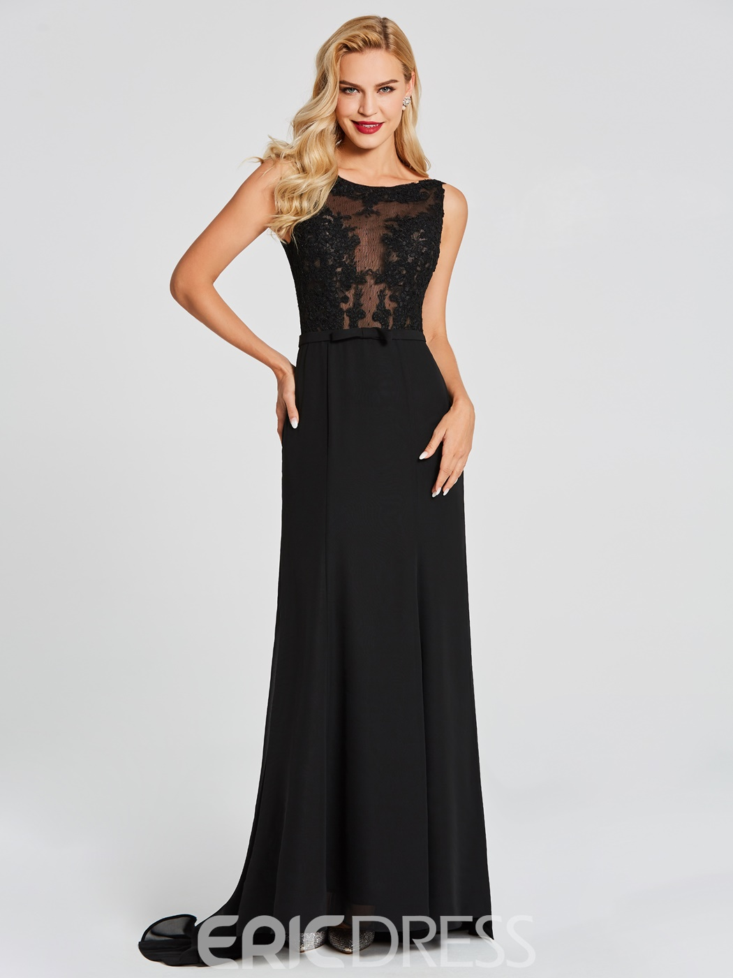 Ericdress Scoop Neck Lace Applique Mermaid Evening Dress
