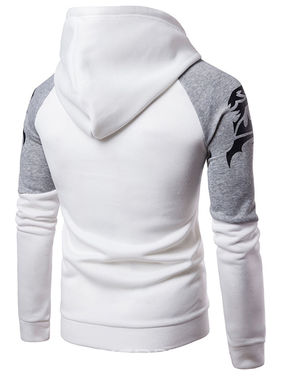 Ericdress Hooded Patchwork Slim Men's Hoodie