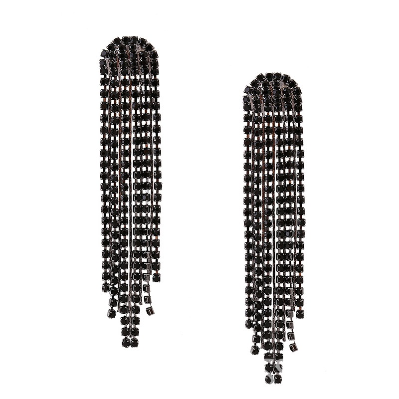Ericdress Long Fully-Jewelled Tassel OL Style Earring