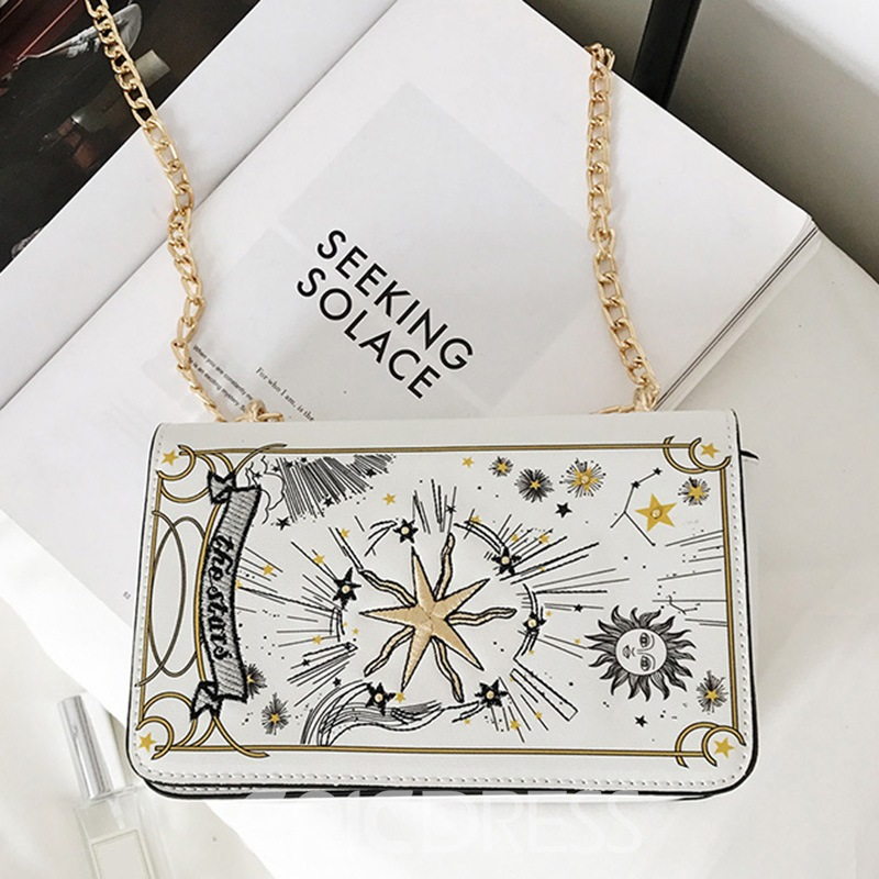 Ericdress Distinctive Embroidery Chain Crossbody Bag