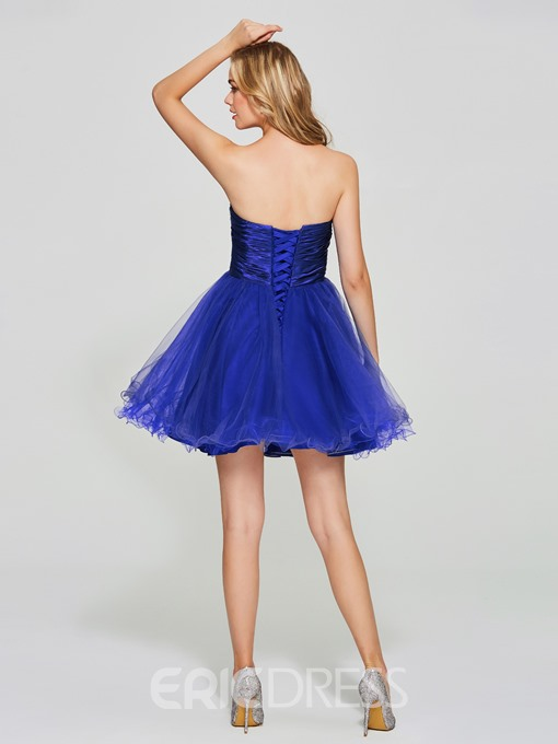 Ericdress A Line Strapless Beaded Short/Mini Homecoming Dress