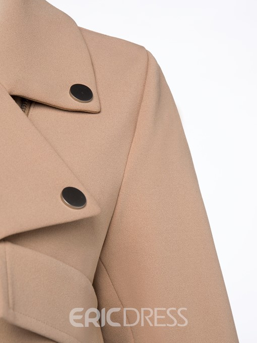 Ericdress Short Zipper Pocket Trench Coat