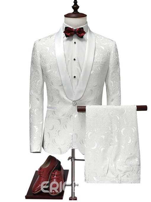 Ericdress One Button Classic White Men's Suit
