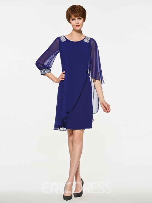 Ericdress Sheath Half Sleeves Knee Length Mother Of The Bride Dress