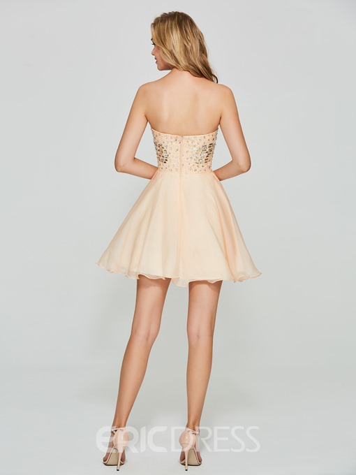 Ericdress A Line Sweetheart Short Homecoming Dress With Beadings