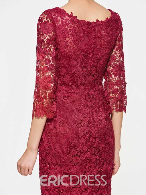 Ericdress Half Sleeves Lace Knee Length Mother Of The Bride Dress