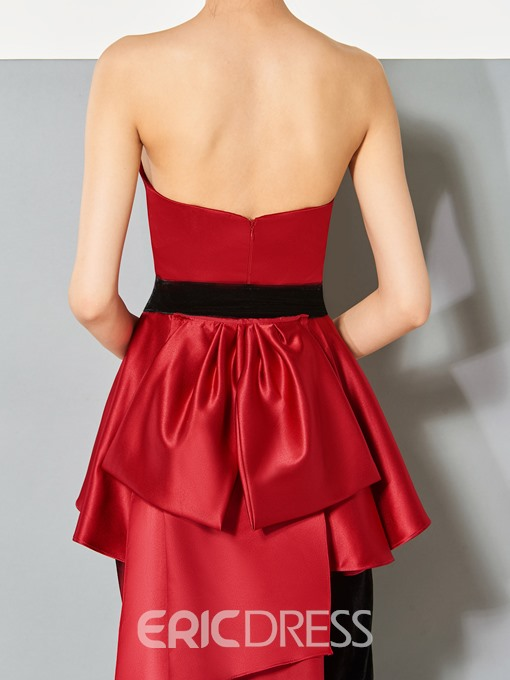 Ericdress Sheath Bowknot Sashes Evening Jumpsuit With Train