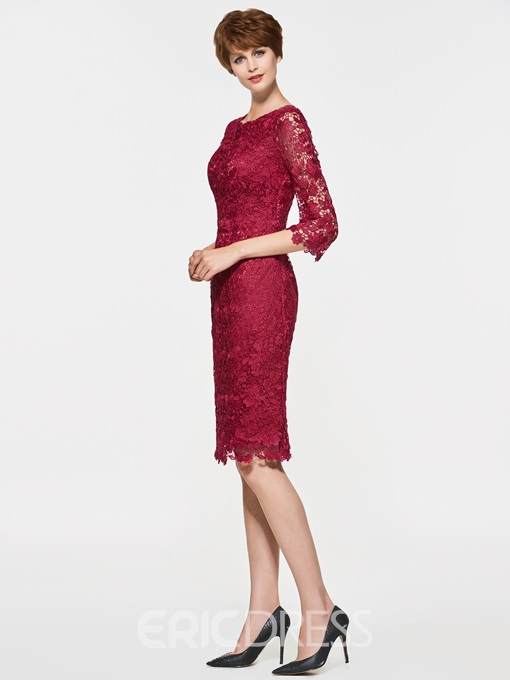 Ericdress Half Sleeves Short Lace Knee Length Mother Of The Bride Dress