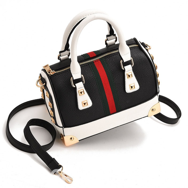 Ericdress Vogue Color Block Rivet Women Handbag