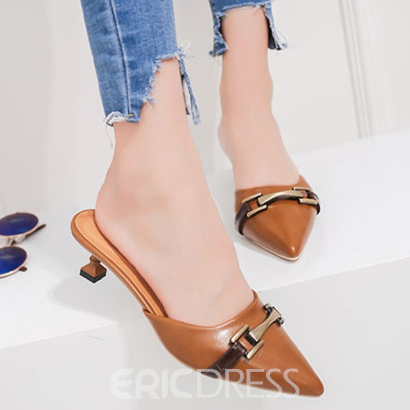 Ericdress Popular Closed Toe Slip-On Women's Mules Shoes