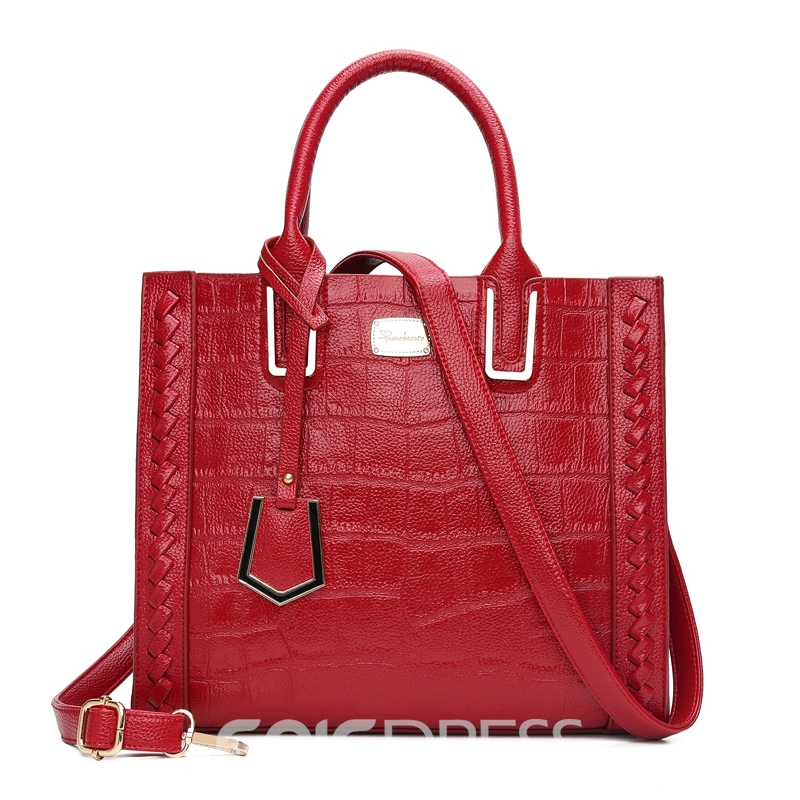 Ericdress Concise Crocodile Print Handbag