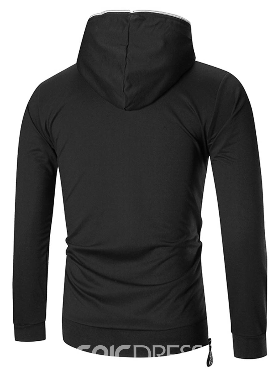 Ericdress Hooded Solid Color Pullover Men's Hoodie