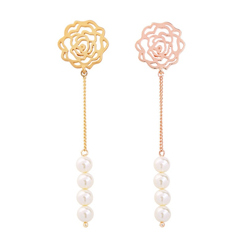 Ericdress Vintage Pearl Hollow Out Drop Earring for Women