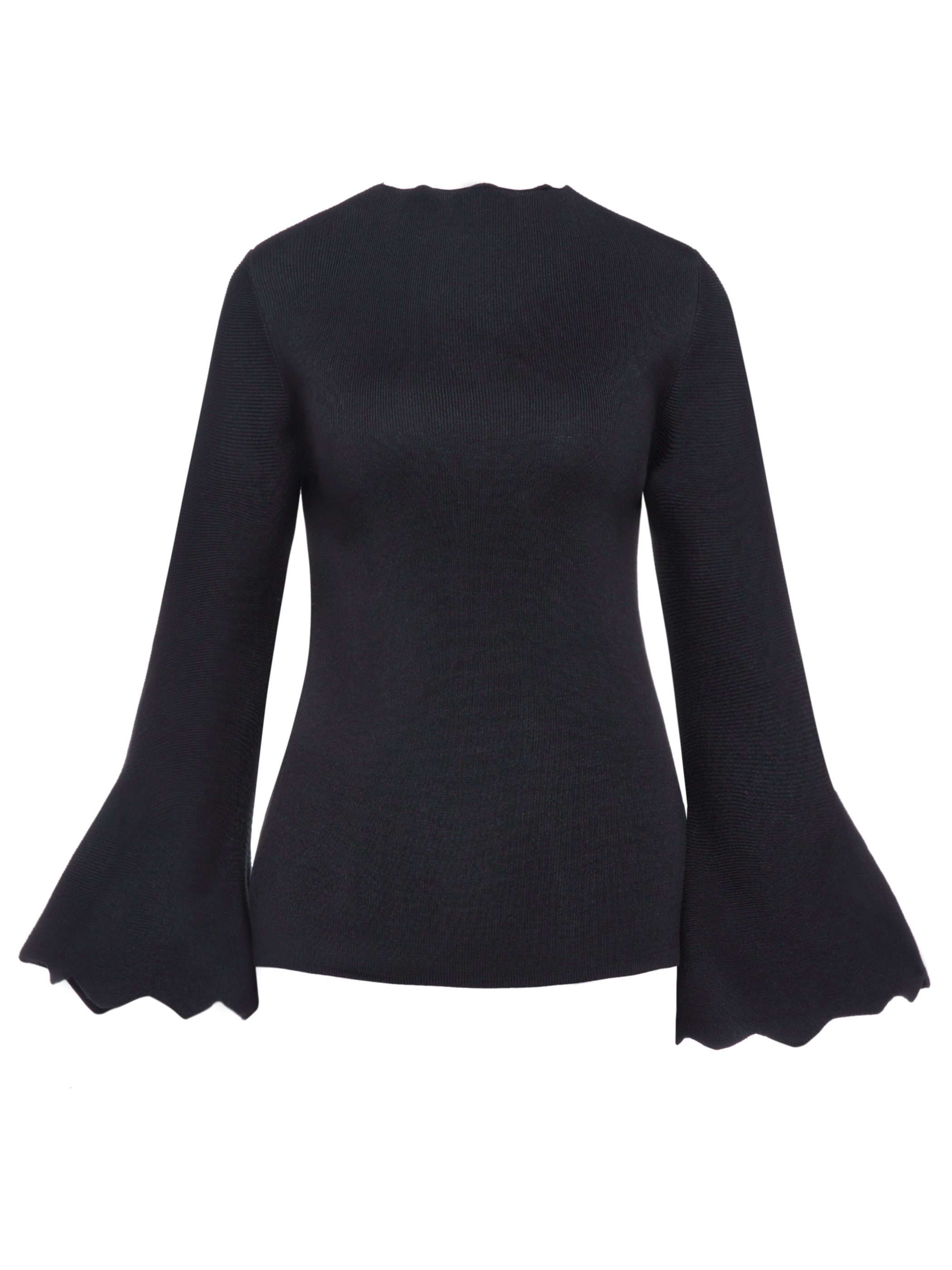 Ericdress Plain Flare Sleeve Pullover Knitwear