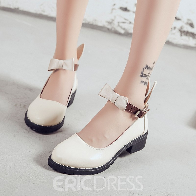 Ericdress Animal Color Block Women's Flats with Bowknot
