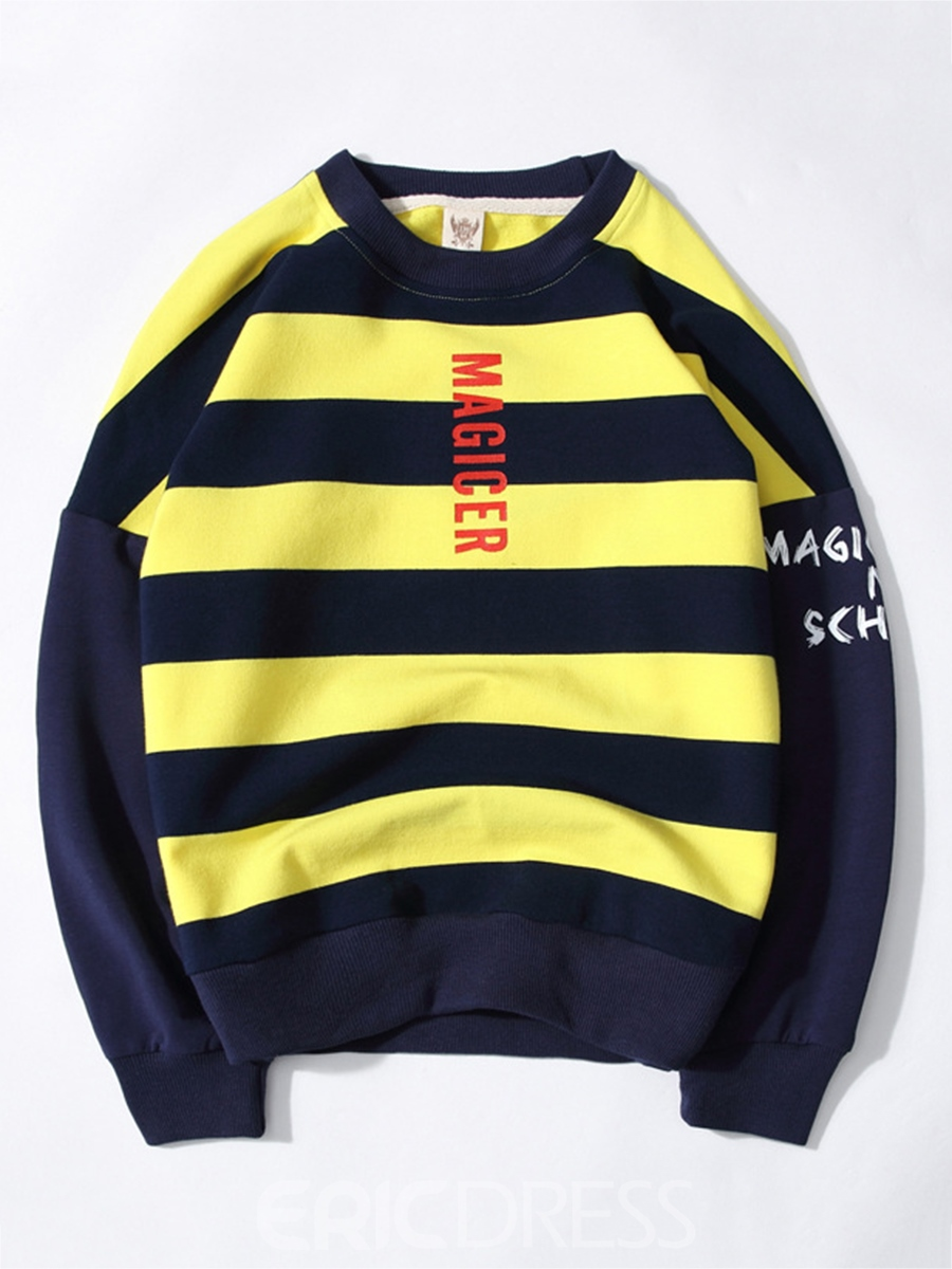 Ericdress Pullover Stripe Pattern Boys Long Sleeve T-Shirt