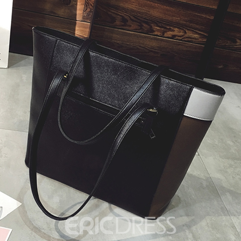Ericdress Casual Patchwork Zipper Handbag