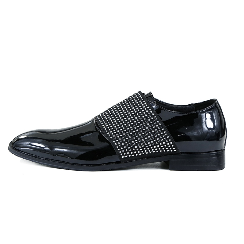 Ericdress Rhinestone Slip-On Plain Men's Oxfords