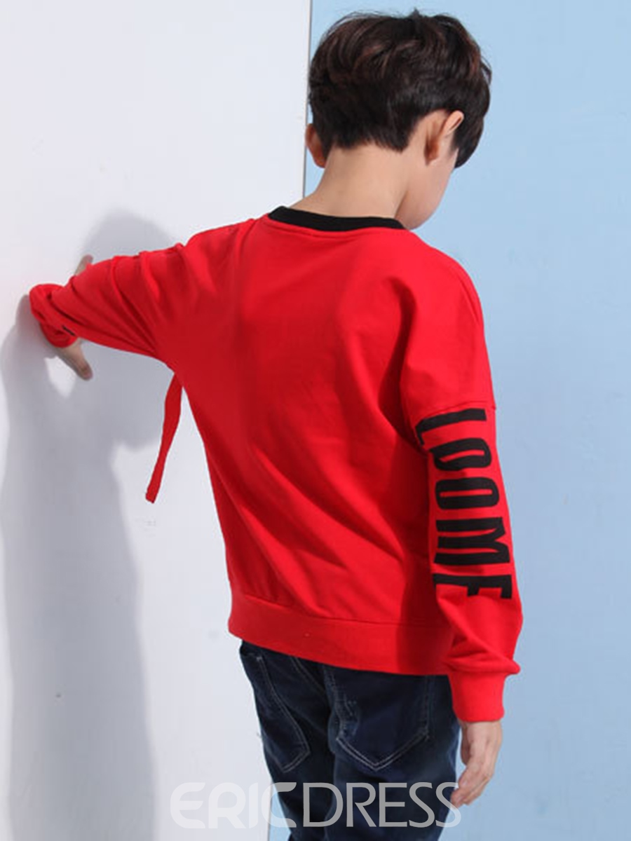Ericdress Pullover Letter Pattern Long Sleeve Fall Boys T-Shirt