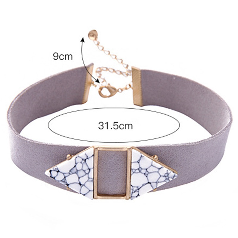 Ericdress Gem Inlay Ultra Violet Women's Choker Neckace