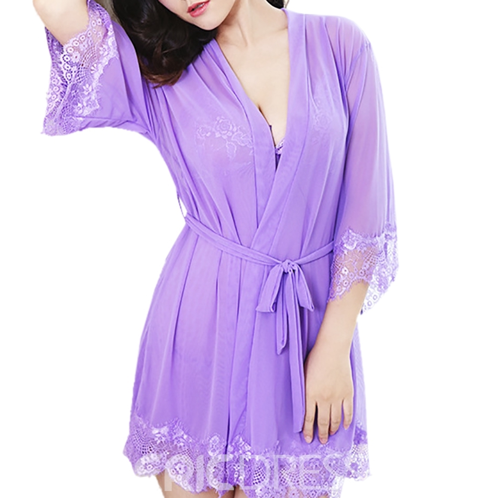Ericdress Charming Spaghetti Strap Three-Piece Suit Babydoll