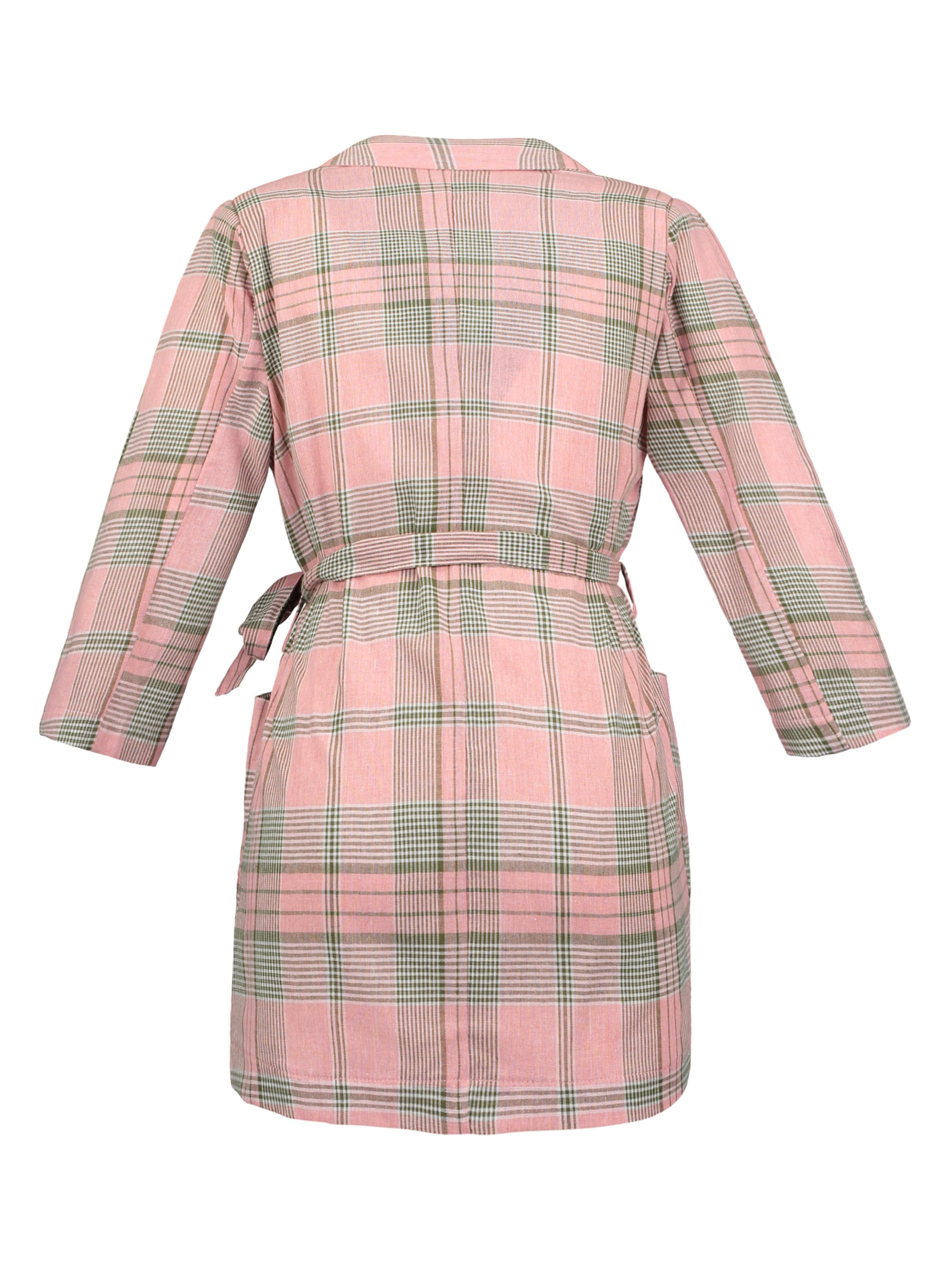Ericdress Notched Lapel Color Block Plaid Coat