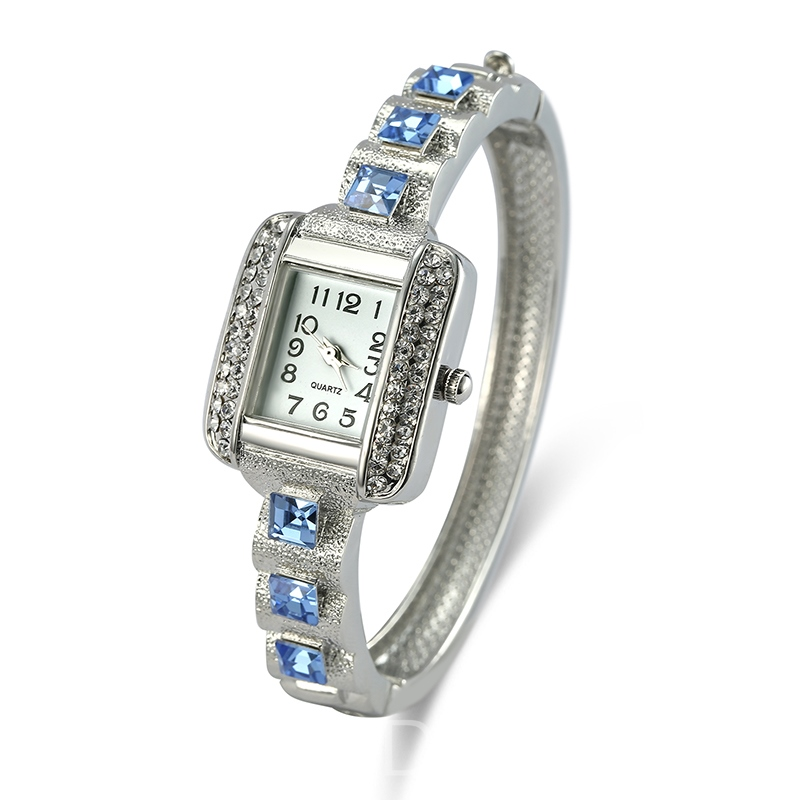 Ericdress Elegant Blue Sapphire Inlay Square Case Watch for Office Lady