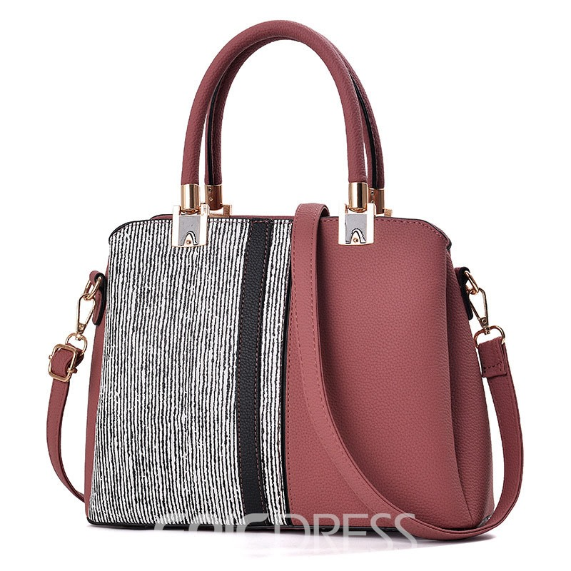 Ericdress Simplicity Color Block Zipper Handbag