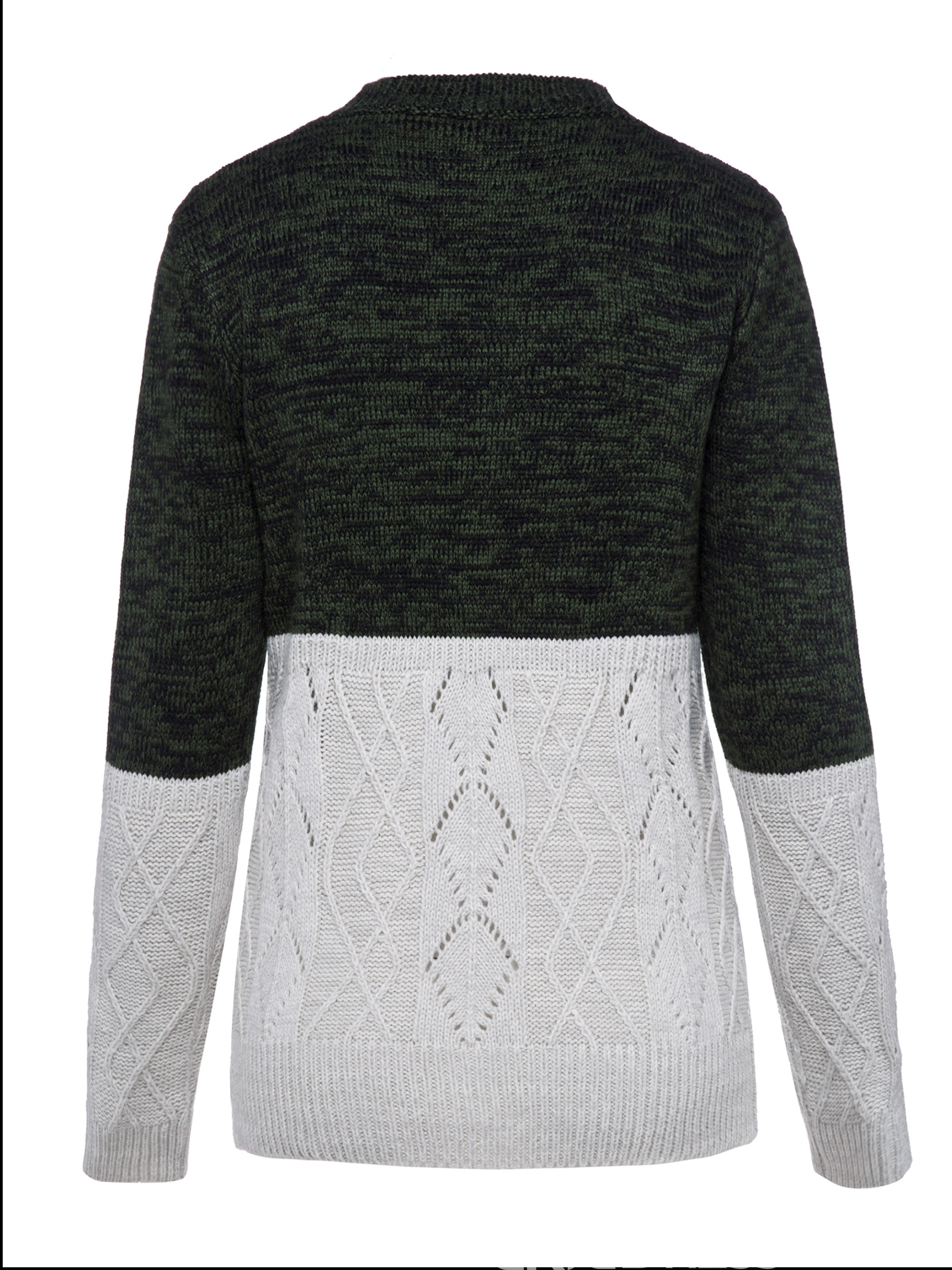 Ericdress Loose Patchwork Pullover Knitwear