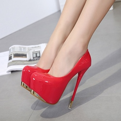 Ericdress Sexy Slip-On Platform Plain Stiletto Heel Shoes фото