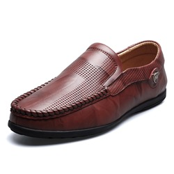 Ericdress PU Slip-On Plain Mens Loafers