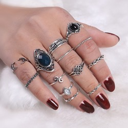 Ericdress Vintage Hollow Out Personal 13-Piece Womens Ring