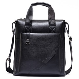 Ericdress Classic Solid Color Men's Briefcase